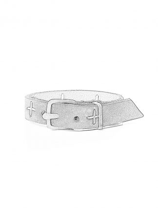 MA Macross Maurizio Amadei A F2B1 GR3.0 Small Silver Cross Skinny Wristband Bracelet Armband cow leather black hide m 1