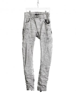 BORIS BIDJAN SABERI BBS P13TF men pants herren hose jeans F1603K cotton pu dark punk grey hide m 2