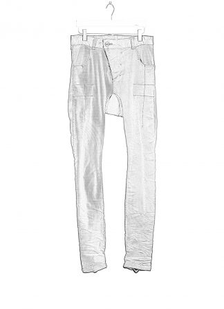 BORIS BIDJAN SABERI BBS Pants Herren Hose Jeans P13HS TF F1939 Fully Hand Sttiched 16h cotton ly faded synth blue hide m 1