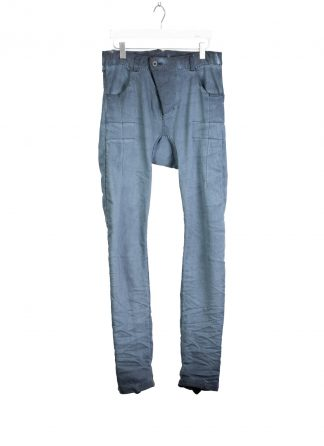 BORIS BIDJAN SABERI BBS Pants Herren Hose Jeans P13HS TF F1939 Fully Hand Sttiched 16h cotton ly faded synth blue hide m 2