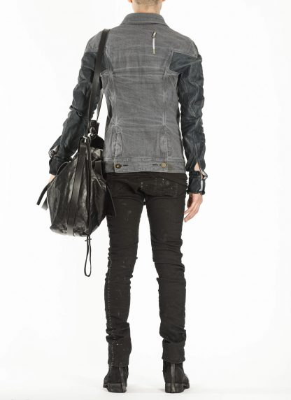 BORIS BIDJAN SABERI BBS exclusively bag48 weekender tasche calf leather alluminium f260 black hide m 10