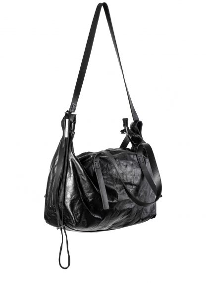 BORIS BIDJAN SABERI BBS exclusively bag48 weekender tasche calf leather alluminium f260 black hide m 2