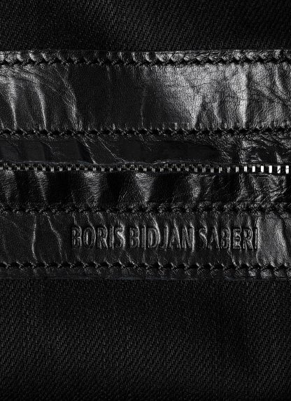 BORIS BIDJAN SABERI BBS exclusively bag48 weekender tasche calf leather alluminium f260 black hide m 6