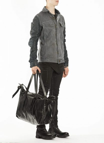 BORIS BIDJAN SABERI BBS exclusively bag48 weekender tasche calf leather alluminium f260 black hide m 8