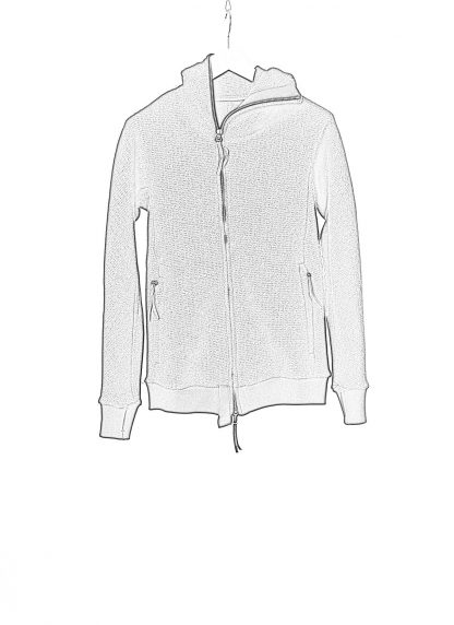 BORIS BIDJAN SABERI ZIPPER2 fw20 men jacket herren jacke F0409M vergin wool cotton cashmere black hide m 1