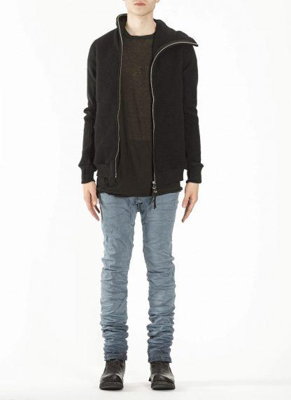 BORIS BIDJAN SABERI ZIPPER2 fw20 men jacket herren jacke F0409M vergin wool cotton cashmere black hide m 3