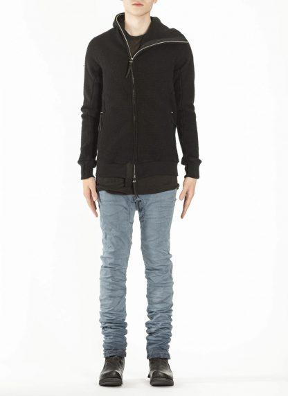 BORIS BIDJAN SABERI ZIPPER2 fw20 men jacket herren jacke F0409M vergin wool cotton cashmere black hide m 4