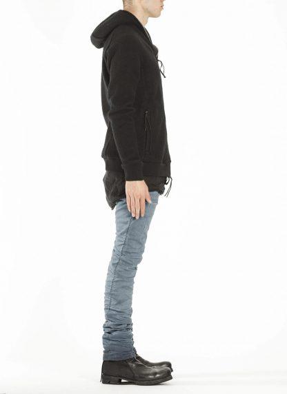BORIS BIDJAN SABERI ZIPPER2 fw20 men jacket herren jacke F0409M vergin wool cotton cashmere black hide m 5