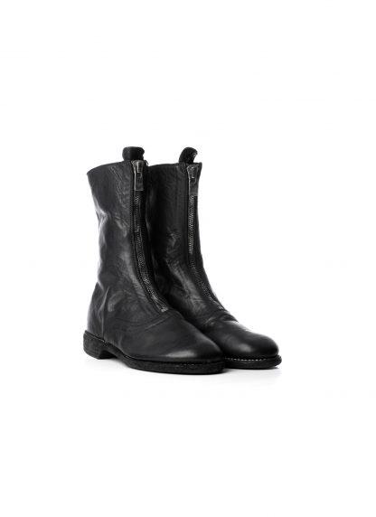 GUIDI Women 310 front zip boot shoe damen schuh stiefel soft horse leather black hide m 5