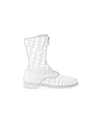 Guidi women front zip army boot damen schuh stiefel 310 crocodile leather white CO00T hide m 1