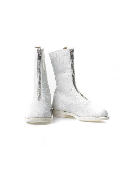 Guidi women front zip army boot damen schuh stiefel 310 crocodile leather white CO00T hide m 3