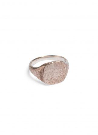 werkstatt munchen M1136 signet ring scratched silver hide m 1