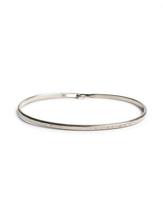 werkstatt munchen bracelet m2640 bangle hook stripe silver hide m 1