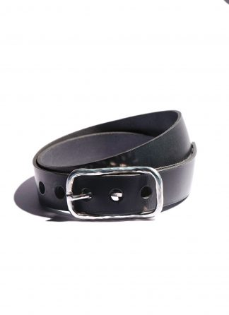 werkstatt munchen guertel m6151 belt classic hammered black leather 925 sterling silver hide m 1