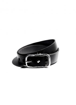 werkstatt munchen m6151 belt guertel classic hammered cow leather sterling silver black hide m 1