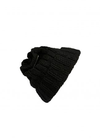 werkstatt munchen m8013 beanie muetze cap tube safety pin cashmere black hide m 1