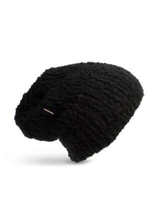werkstatt munchen m8041 beanie muetze cap curl trace link cashmere silk black hide m 1