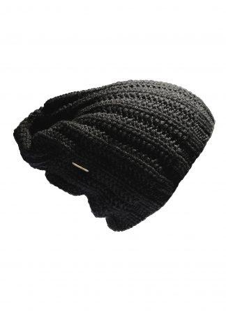 werkstatt munchen m8070 beanie muetze cap classic long trace cashmere black hide m 1