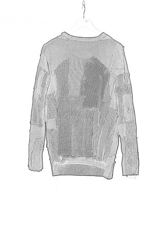 PROPOSITION CLOTHING CL 0073 Men Hand Made Sweater Herren Pullover Pulli knit wool black hide m 1
