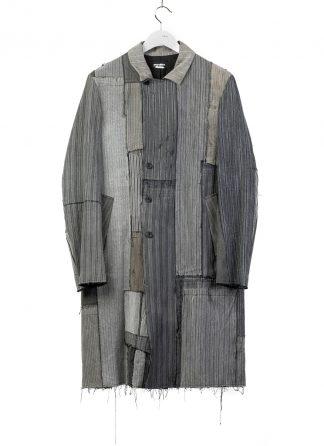 PROPOSITION CLOTHING CL 0127 Men Dust Coat Herren Mantel striped french cotton grey hide m 2