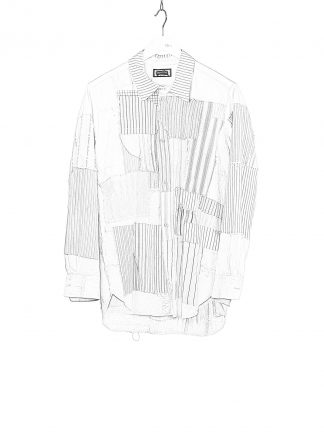 PROPOSITION CLOTHING CL 0132 Men Button Down Shirt Patched Herren Vintage Hemd white striped hide m 1