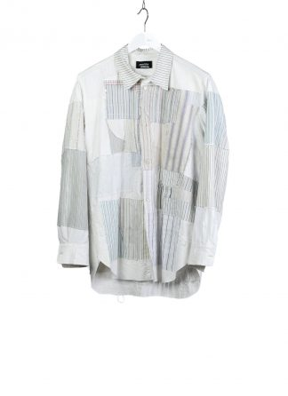 PROPOSITION CLOTHING CL 0132 Men Button Down Shirt Patched Herren Vintage Hemd white striped hide m 2