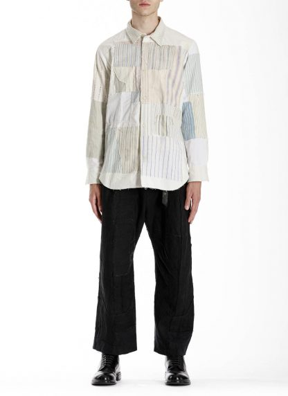 PROPOSITION CLOTHING CL 0132 Men Button Down Shirt Patched Herren Vintage Hemd white striped hide m 3