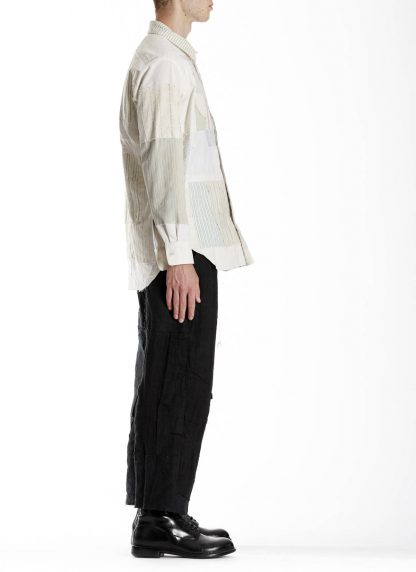 PROPOSITION CLOTHING CL 0132 Men Button Down Shirt Patched Herren Vintage Hemd white striped hide m 4