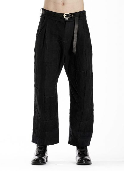 PROPOSITION CLOTHING CL 0139 Men Wide Pants Herren Hose linen black hide m 3