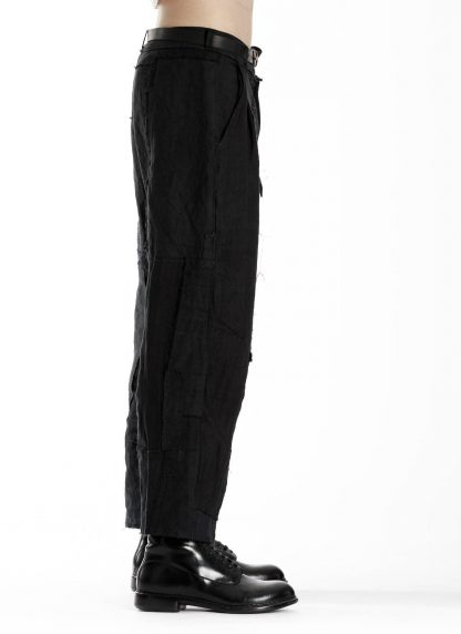 PROPOSITION CLOTHING CL 0139 Men Wide Pants Herren Hose linen black hide m 4