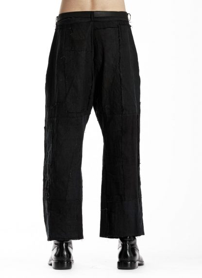 PROPOSITION CLOTHING CL 0139 Men Wide Pants Herren Hose linen black hide m 5