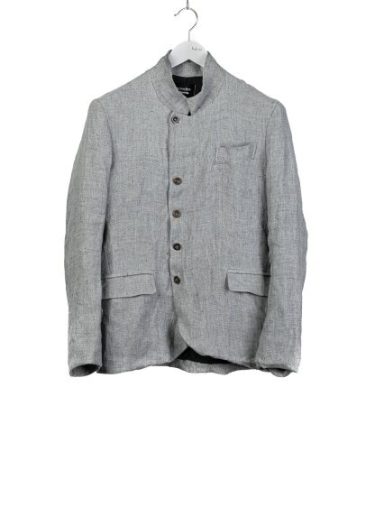 PROPOSITION CLOTHING Men 5 button jacket CL 0164 cotton linen grey hide m 2