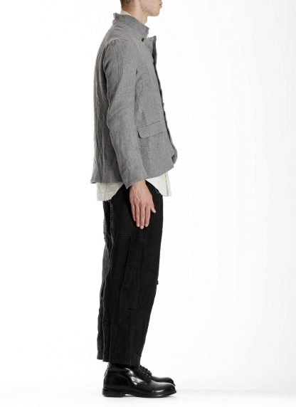 PROPOSITION CLOTHING Men 5 button jacket CL 0164 cotton linen grey hide m 5