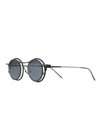 Rigards sun glasses brille eyewear sonnenbrille the viridi anne rg2001tva black clear clipon titanium silver acetate hide m 2