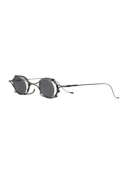 Rigards sun glasses brille eyewear sonnenbrille the viridi anne rg2002tva black clear clipon titanium copper hide m 3
