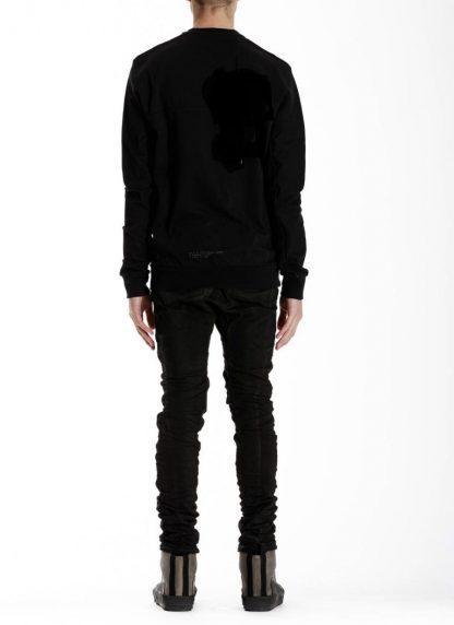 11 by boris bidjan saberi BBS men cr1c round neck sweater herren pulli black f1229 hide m 5