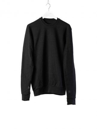 11 by boris bidjan saberi cr1c round neck sweater black f1229 02