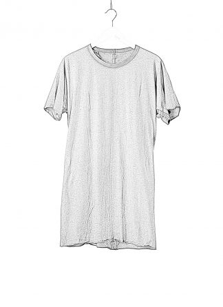 BORIS BIDJAN SABERI BBS Men One Piece Tshirt Regular Fit Flat Stitch Seam Taped Object Dyed F035 cotton faded dark grey hide m 1
