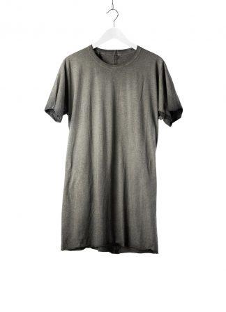 BORIS BIDJAN SABERI BBS Men One Piece Tshirt Regular Fit Flat Stitch Seam Taped Object Dyed F035 cotton faded dark grey hide m 2