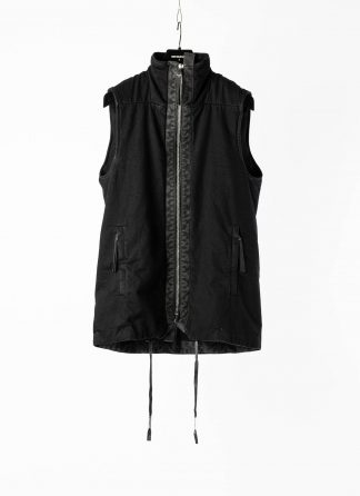 BORIS BIDJAN SABERI BBS Men PADDED VEST 5 Herren Jacke Weste Jacket Resin Dyed F1508K cotton black hide m 2