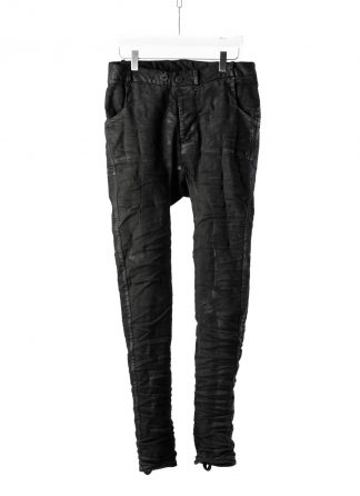 BORIS BIDJAN SABERI BBS P14 Fitted Pants Herren Hose Jeans Vinyl Coated Nickel Pressed 2 Tons Body Molded F1939 cotton ly black hide m 2