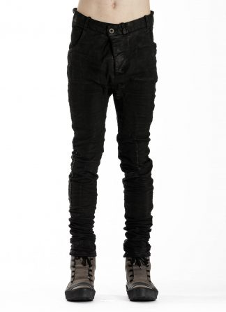BORIS BIDJAN SABERI BBS P14 Fitted Pants Herren Hose Jeans Vinyl Coated Nickel Pressed 2 Tons Body Molded F1939 cotton ly black hide m 3