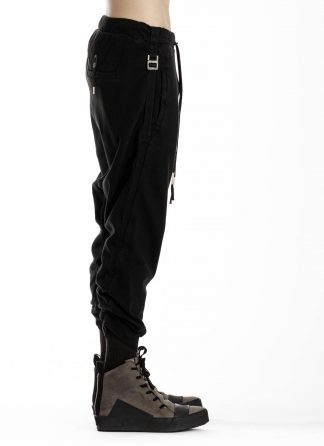 BORIS BIDJAN SABERI BBS P9 Jogger Jogging Relaxed Easy Pants Herren Hose F092 cotton black hide m 4