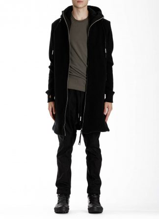 BORIS BIDJAN SABERI BBS ZIPPER3 fw20 men jacket herren jacke F0409M vergin wool cotton cashmere black hide m 3