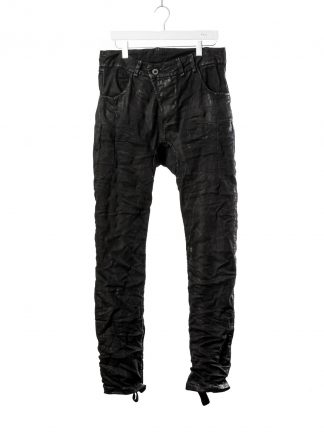BORIS BIDJAN SABERI BBS fw20 men P13HS TF pants fully hand stitched herren jeans hose F1504K cotton elastan black hide m 2