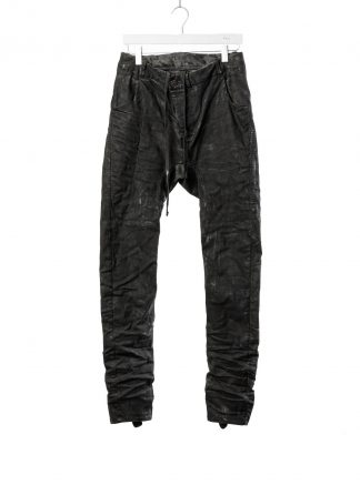 BORIS BIDJAN SABERI BBS fw20 men P14 pants semi hand stitched herren jeans hose F1504K cotton elastan dark grey hide m 2