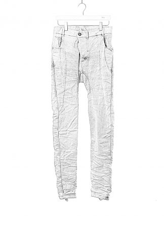 BORIS BIDJAN SABERI BBS fw20 men P14 pants semi hand stitched herren jeans hose F1603K cotton elastan acid dyed dark punk grey hide m 1