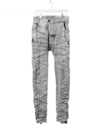 BORIS BIDJAN SABERI BBS fw20 men P14 pants semi hand stitched herren jeans hose F1603K cotton elastan acid dyed dark punk grey hide m 2