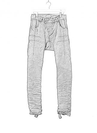 BORIS BIDJAN SABERI BBS men P13HS TF pants fully hand stitched herren jeans hose F1504K cotton elastan dark blue hide m 1