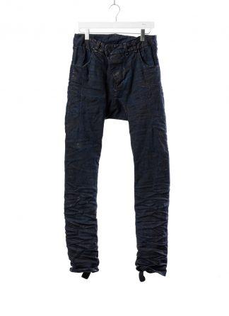 BORIS BIDJAN SABERI BBS men P13HS TF pants fully hand stitched herren jeans hose F1504K cotton elastan dark blue hide m 2
